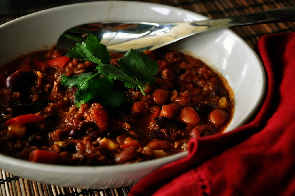 vegetarian crockpot vegetable chili recipe