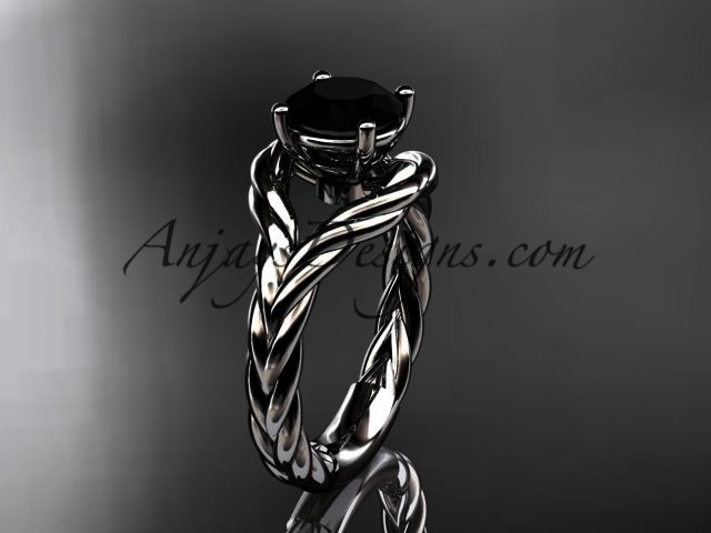 14k-White-Gold-Black-Diamond-Twisted-Rope-Ring