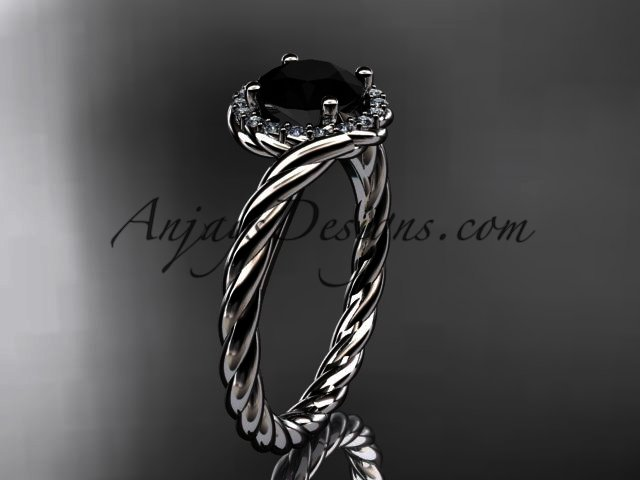 Platinum black twisted rope