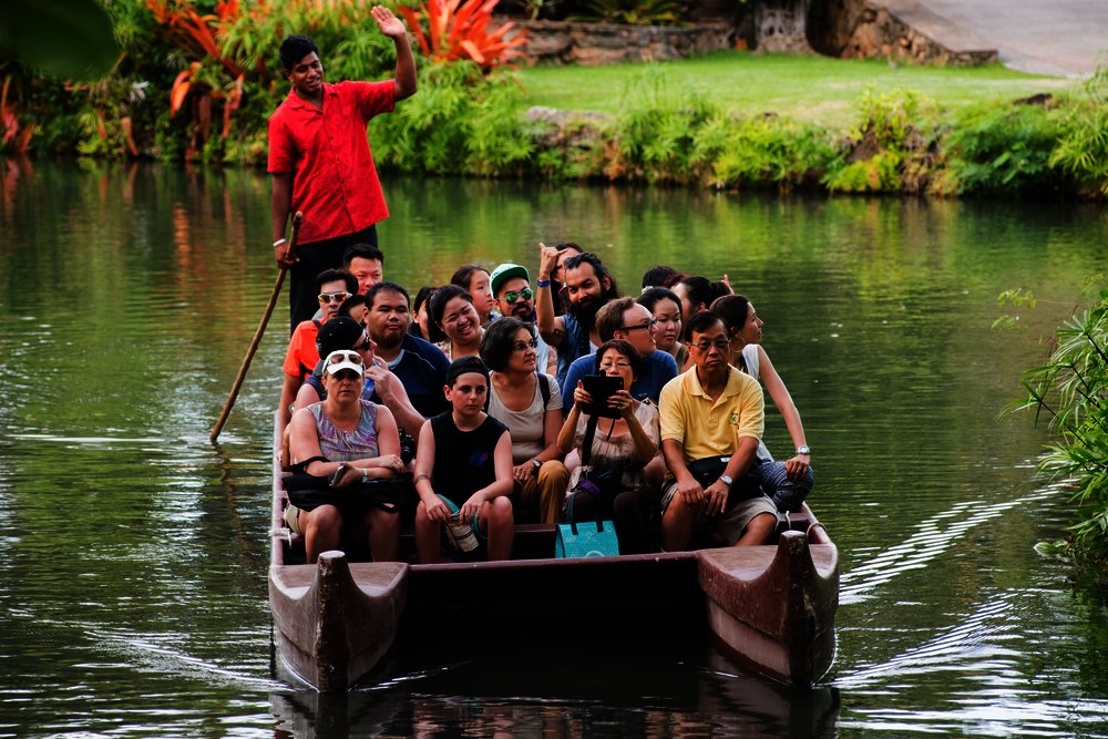 Canoes in Polynesian Cultural Center